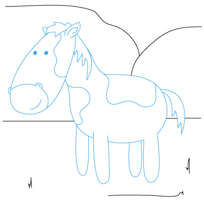 how to draw a horse for kids you tube