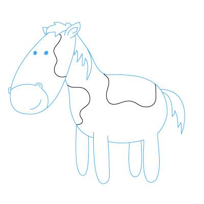 Jak Narysować Konia Krok Po Kroku Rysowanie Konia