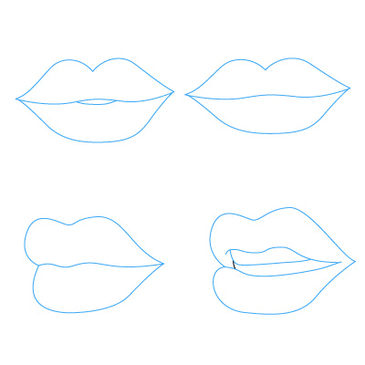 how to draw a mouth for kids