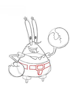 jak narysowa� pana kraba krok po kroku