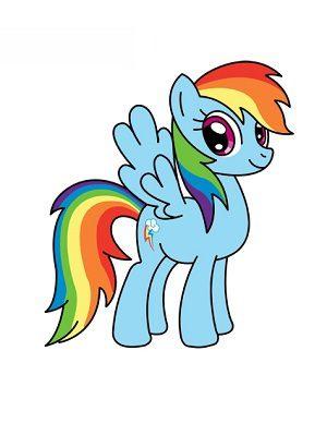 Jak narysować Rainbow Dash z My Little Pony krok po kroku