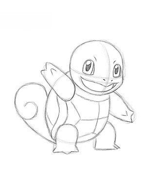 Jak Narysować Pokemona Squirtle Krok Po Kroku
