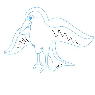 buty na codzień słodkie tanie nieźle Jak narysować ptaka krok po kroku. Rysowanie ptaka