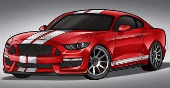 Jak narysować Shelby - Mustang krok po kroku   rysowanie ...
