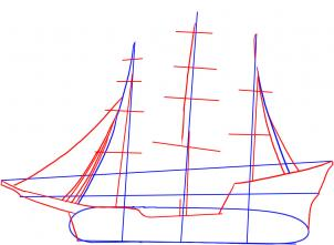 how to draw a sailing ship step by step drawing tutorials