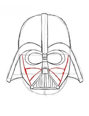 Jak narysowa Dartha Vadera krok