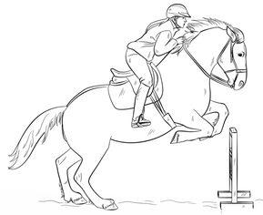 jak narysować konia skaczącego krok po kroku. rysowanie
