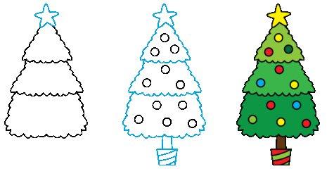 Jak Narysować świąteczną Choinkę Krok Po Kroku Rysowanie