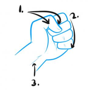 how to draw a fist illus